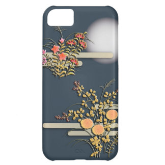 Moon, mist and flowers iPhone 5C case