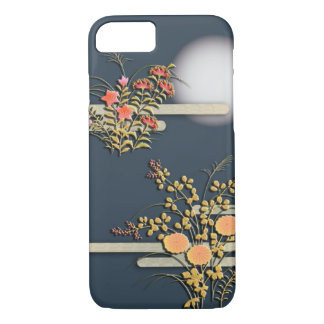 Moon, mist and flowers iPhone 7 case