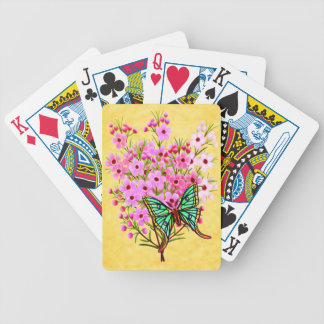 Moon Moth on Pink Waxflowers Playing Cards