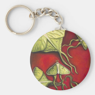 Moon Moths Basic Round Button Key Ring