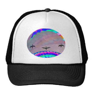 Moon n Three Birds in the sky Trucker Hat