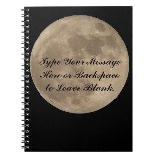 Moon Notebook Custom Full Moon Journal Book Gifts