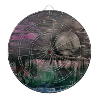 Moon on the mountains dartboard