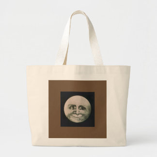 Moon Optical Illusion Large Tote Bag
