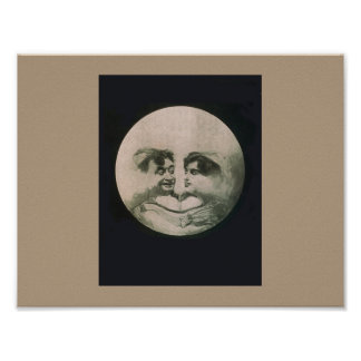 Moon Optical Illusion Poster