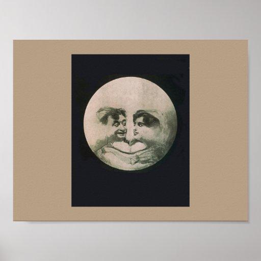 Moon Optical Illusion Poster