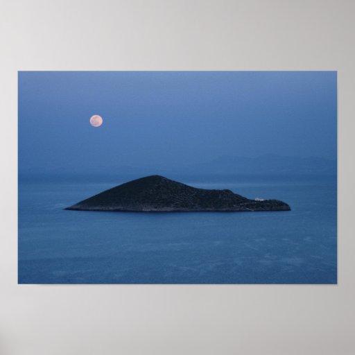 Moon Over Agia Kyriaki Poster