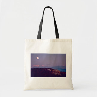 Moon Over El Morro National Monument Tote Bags