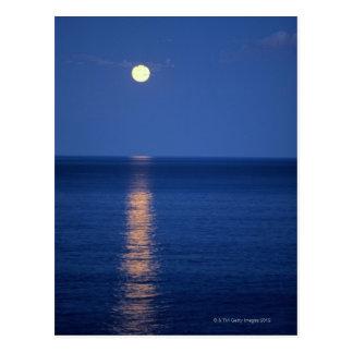 Moon Over Lake at Night Postcard