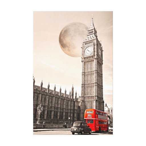 Moon over London Canvas Prints
