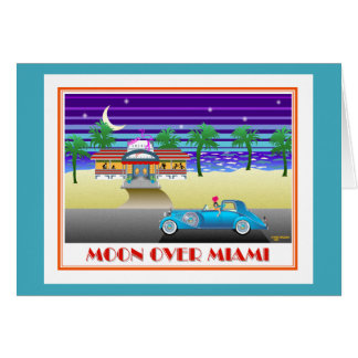Moon Over Miami Aqua Card
