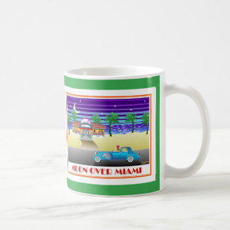 Moon Over Miami Green Coffee Mug