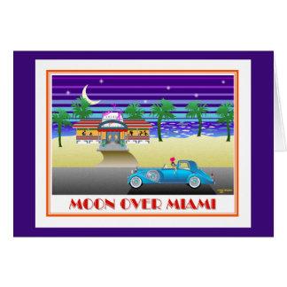 Moon Over Miami Indigo Card