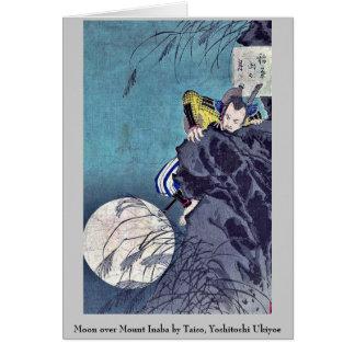 Moon over Mount Inaba by Taiso, Yoshitoshi Ukiyoe Note Card