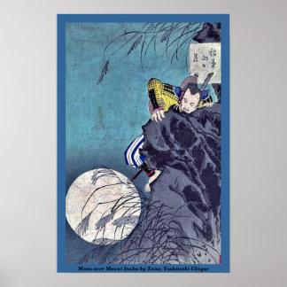 Moon over Mount Inaba by Taiso, Yoshitoshi Ukiyoe Poster