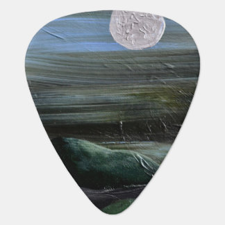 Moon Over Mountain Guitar Pick
