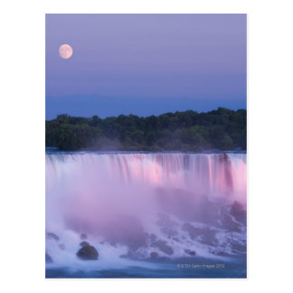 Moon over Niagara Falls Postcard