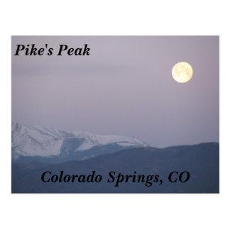Moon Over Pike s Peak Postcards