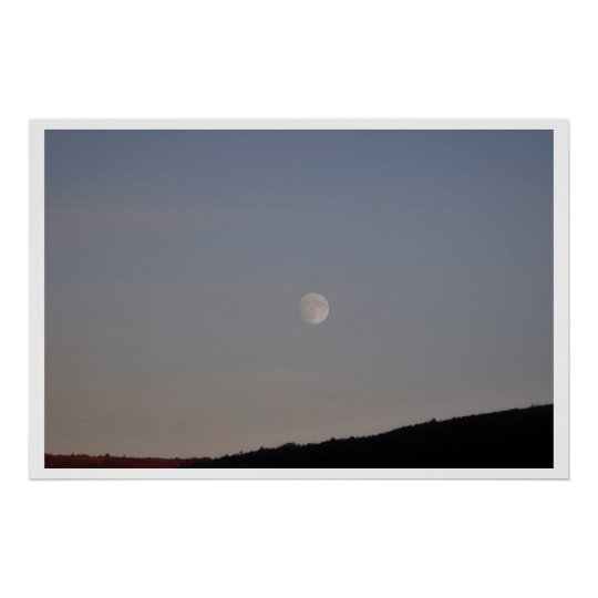 Moon Over Pocono Mountains Poster