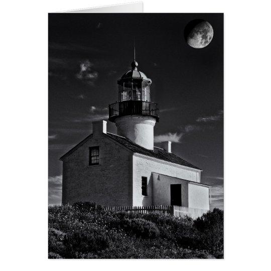 Moon over Point Loma Card