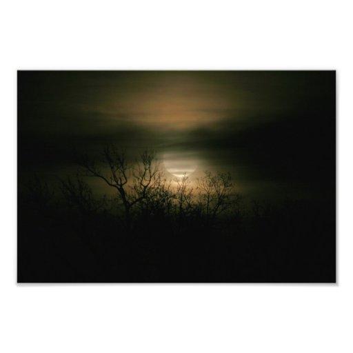 Moon Over Prince George Photo Art