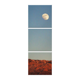 Moon Over Sandias Canvas Print