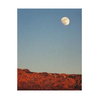 Moon Over Sandias Canvas Print