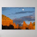 Moon Over Sedona, Arizona 2222 Print