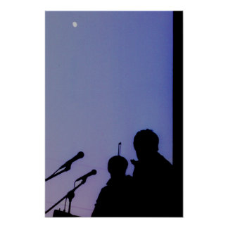Moon Over St. Paul Poster