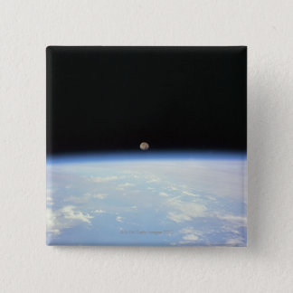 Moon Over the Earth 15 Cm Square Badge