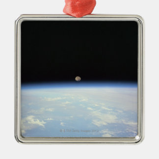 Moon Over the Earth Christmas Ornament