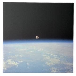 Moon Over the Earth Tile