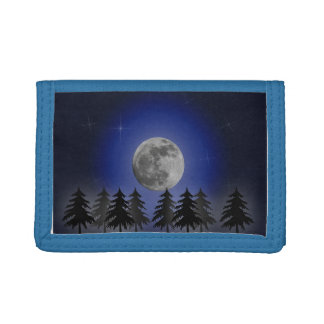 MOON OVER THE FOREST TRI-FOLD WALLET