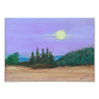 Moon Over the Willamette Photo Print