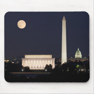 Moon over Washington DC Mouse Mat