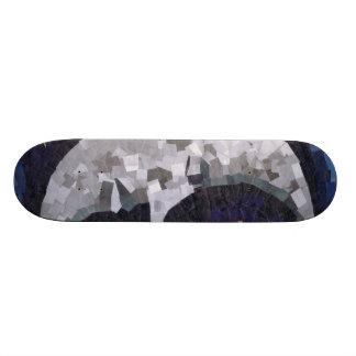 Moon (Paper Mosaic) Skate Deck