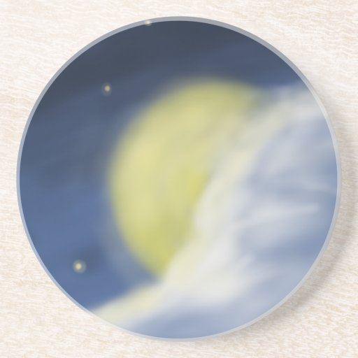 Moon Partly Hidden by a Cloud Drink Coasters