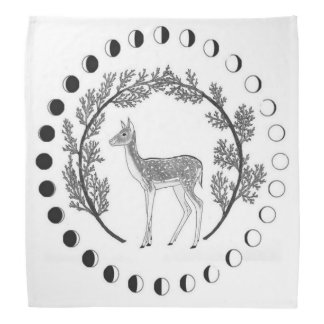 Moon Phase Tarot Cloth Bandana