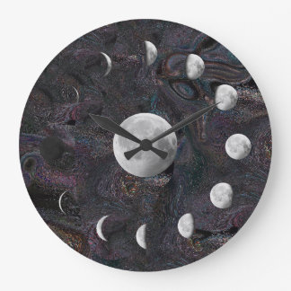 Moon Phases in an Imagined Universe Wallclocks
