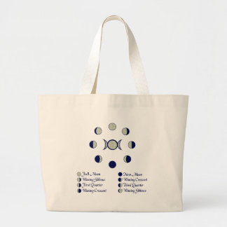 Moon Phases Large Tote Bag
