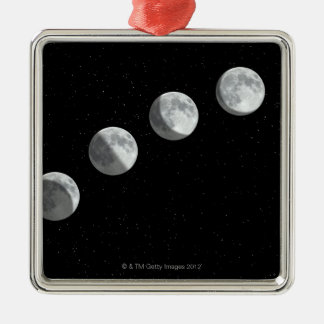 Moon phases Silver-Colored square decoration
