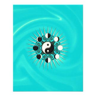 Moon Phases, Sun & Yin Yang - Polarity & Duality 11.5 Cm X 14 Cm Flyer