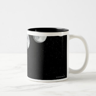 Moon phases Two-Tone coffee mug