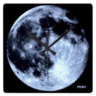 Moon Photo Art Clock by Rybird