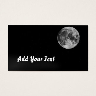 Moon photograph business card