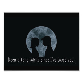 Moon Print and Quote Photo