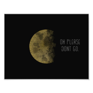 Moon Print and Quote Photo Print