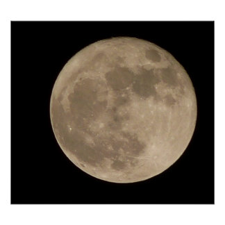 Moon Print Astronomy Lunar Full Moon Poster