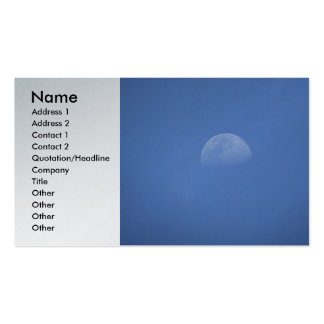 Moon Profile Card Business Cards