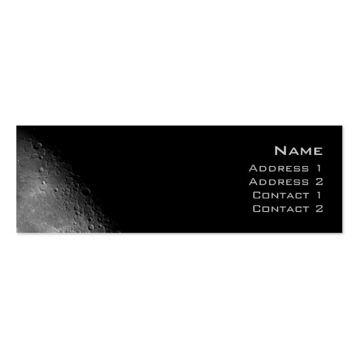 Moon Profile Card Pack Of Skinny Business Cards